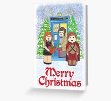 11th Doctor with Amy amd Rory Greeting Card