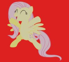 Prancing Fluttershy by Stinkehund