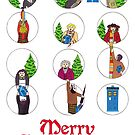 Doctor Who Christams Card - 11 Doctors by HappyDoctors