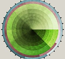 Abstract Rings of Green by Phil Perkins