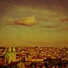 Prague Sunset - Vintage Texture by anniephoto