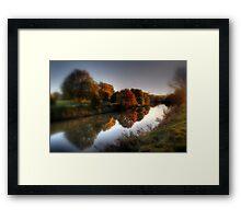 Autumn on the River Medway  Framed Print