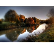 Autumn on the River Medway  Photographic Print