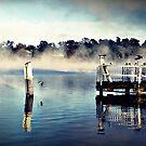 Blue Frosted Lake by Rinaldo Di Battista