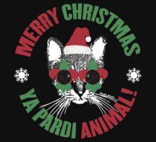 Merry Christmas Ya Pardi Animal Kids Tee