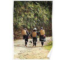 Hmong Women - Sapa Valley - Vietnam Poster