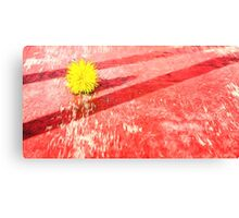 Yellow Dandelion on Red Oil Painting Fusion Canvas Print