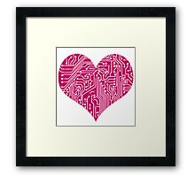Digital Love - Pink Framed Print