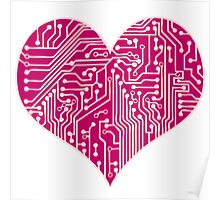 Digital Love - Pink Poster