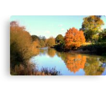 Autumn on the Medway Canvas Print