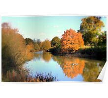 Autumn on the Medway Poster