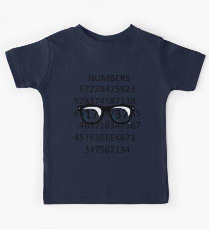 NUMBERS GEEK Kids Tee