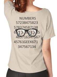 NUMBERS GEEK Women's Relaxed Fit T-Shirt