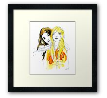 E and Gabrielle Framed Print