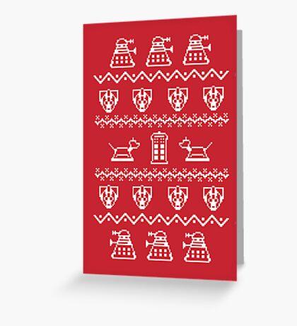 Timey Wimey Sweater Greeting Card