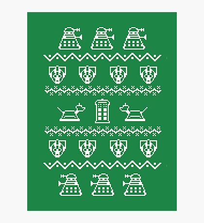 Timey Wimey Christmas (Green) Photographic Print