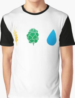 Basic ingredients for beer symbols Graphic T-Shirt