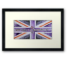 Sten Guns In Knightsbridge Framed Print