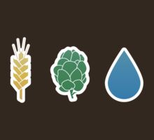 Basic ingredients for beer symbols by mikewirth
