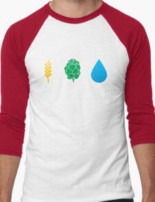 Basic ingredients for beer symbols Men's Baseball ¾ T-Shirt
