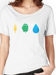 Basic ingredients for beer symbols Women's Relaxed Fit T-Shirt