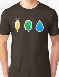 Basic ingredients for beer symbols Unisex T-Shirt