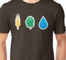 Basic ingredients for beer symbols Unisex T-Shirt