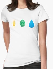 Basic ingredients for beer symbols Womens Fitted T-Shirt