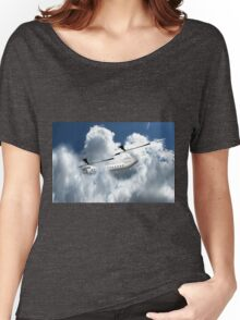 Chinook type Helicopter Descending into Cloud Women's Relaxed Fit T-Shirt