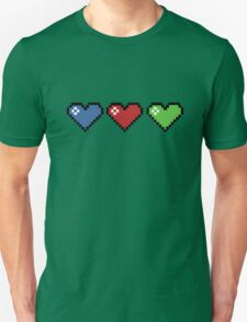 Colourful Retro Hearts T-Shirt