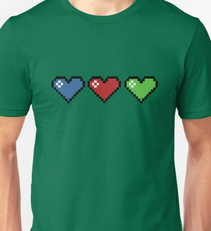 Colourful Retro Hearts Unisex T-Shirt