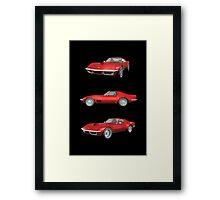 Red 1970 Corvette Framed Print