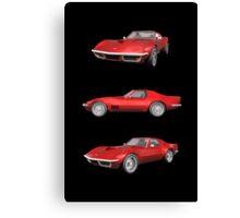 Red 1970 Corvette Canvas Print