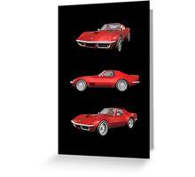 Red 1970 Corvette Greeting Card