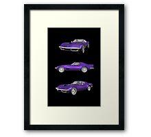 Purple 1970 Corvette Framed Print