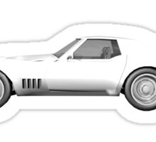 White 1970 Corvette Sticker