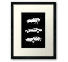 White 1970 Corvette Framed Print