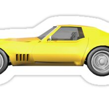 Yellow 1970 Corvette Sticker