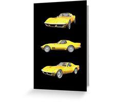 Yellow 1970 Corvette Greeting Card