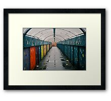 Coloured Tunnel Framed Print