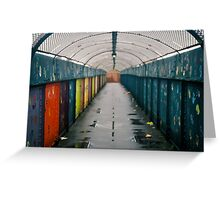 Coloured Tunnel Greeting Card