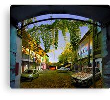 Autumn Courtyard Canvas Print