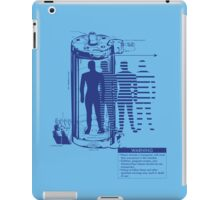 Teleporter Warning Label Shirt iPad Case/Skin