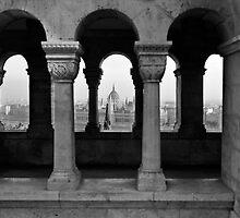 Parliament through an Arch by BH Neely