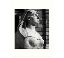 Statue at Hungarian State Opera House Art Print