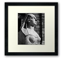 Statue at Hungarian State Opera House Framed Print