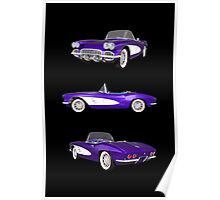 Purple 1961 Corvette C1 Poster
