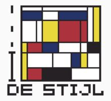 I LOVE DE STIJL T-shirt by ethnographics