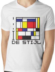 I LOVE DE STIJL T-shirt Mens V-Neck T-Shirt
