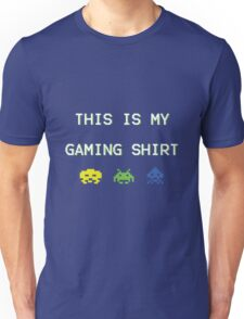 This is my gaming shirt (white on green) Unisex T-Shirt